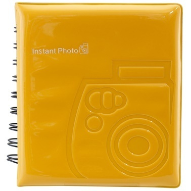 Fujifilm instax mini Film Uyumlu Sari 64'lü Kare Albüm Renkli
